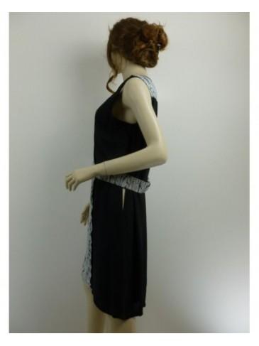 Robe femme Paz Torras noir blanc GRANDE TAILLE