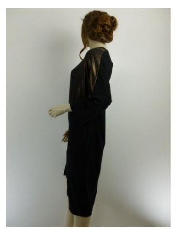 Robe femme Ciso noir doré GRANDE TAILLE