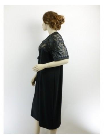 Robe femme Meri Esca noir GRANDE TAILLE