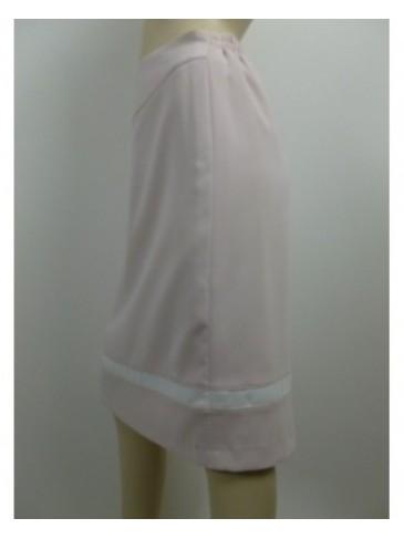Jupe femme GD rose blanc GRANDE TAILLE