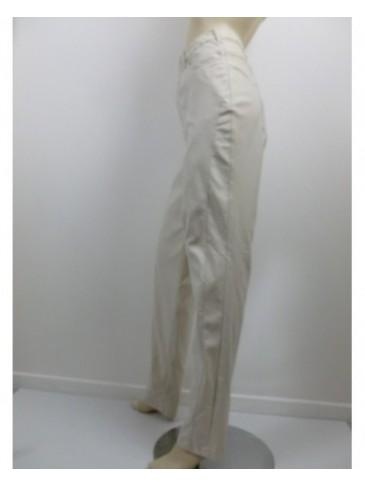 Pantalon femme Ciso beige simili cuir GRANDE TAILLE