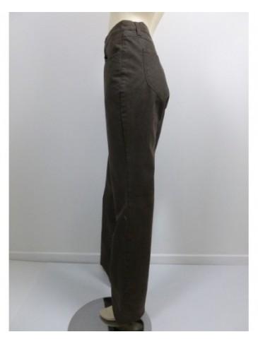 Pantalon femme Pionier paola chocolat GRANDE TAILLE