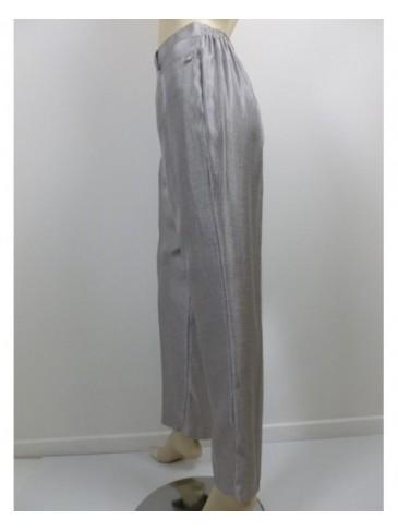 Pantalon femme Christine Laure 54392 gris argenté