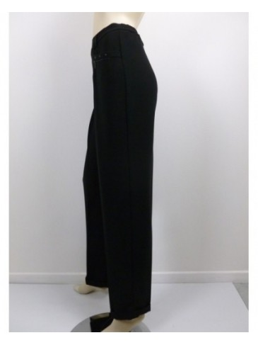 Pantalon femme Christine Laure 55257 noir GRANDE TAILLE