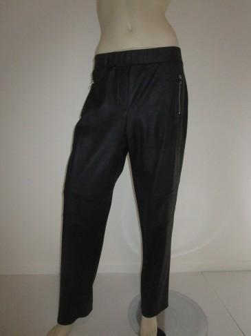 Pantalon Noir en Cuir